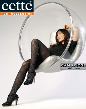Cette Cambridge -Tights - Herringbone Pattern - 40 DEN