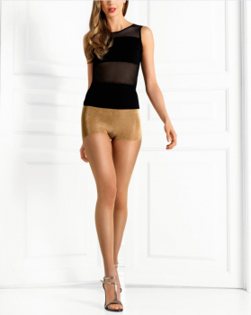Le Bourget Collant Absolu Feminin -Tights with an elegant shiny Panty-30 DEN