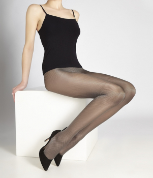 Cecilia de Rafael - Daphne - Glossy Tights -Diamond Pattern-60 DEN