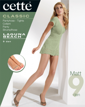 Cette Laguna Beach -Tights Toeless - Very Thin - 9 DEN