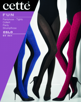 Cette Oslo  - Tights with a mirror dots pattern - 60 DEN