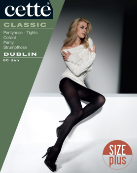Cette Dublin - Opaque -Tights SIZE PLUS - 60 DEN