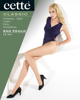 Cette Sao Paulo - Transparent Tights - Silky Shiny - 18 DEN