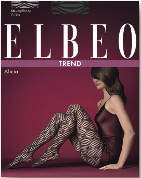 Elbeo Alicia - Fashion Strumpfhose - Rauten-Design - 30 DEN