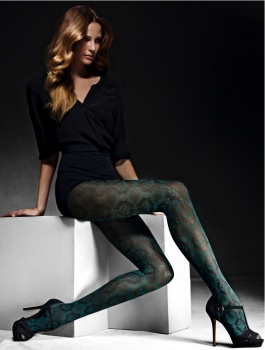 Elbeo Kate - Fashion Tights - Ornament Pattern - 80 DEN