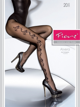 Fiore Alvera - Stylish Patterned Tights - 20 DEN