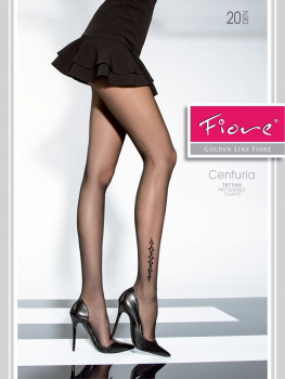 Fiore Centuria - Tights with a stylish Tatto Pattern - 20 DEN