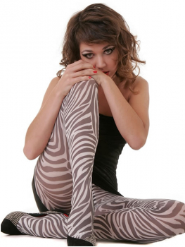 Hotlook Zebra - Tights with Zebra Print - 70 DEN