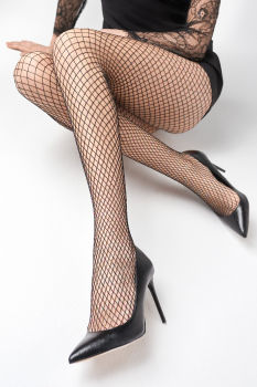 Marilyn - Charly N54 - Fishnet Tights with shiny Threads
