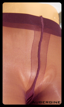 image tights aubergine colour-satine pantyhose