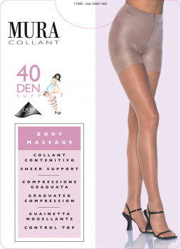 Mura Body Massage 40 -Support Strumpfhose- 40 DEN