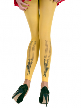 Hotlook Scratch Cat - Legging Yellow - 40 DEN