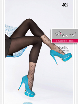 Fiore Sentira - Microfibre Tights - Leggings Imitation Pattern - 40 DEN