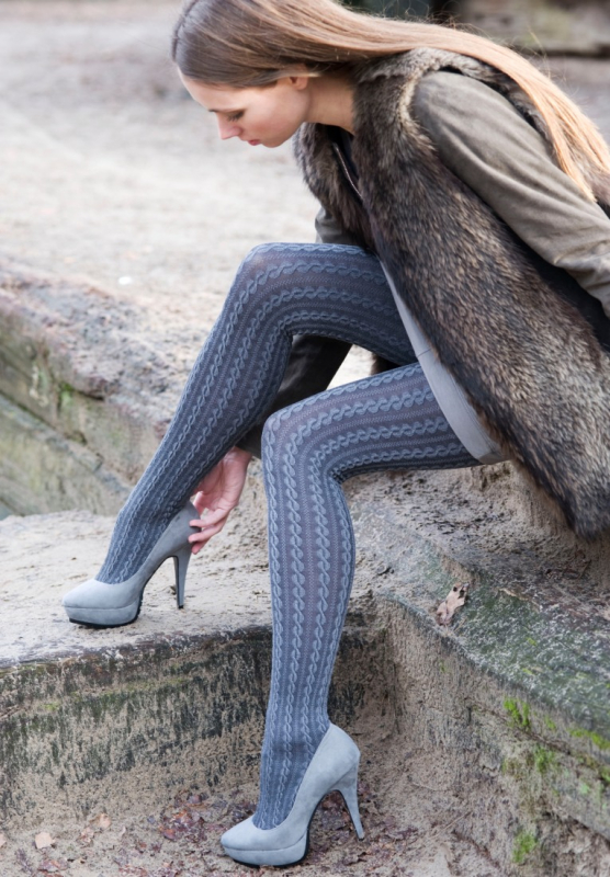 Bonnie Doon - Cable Tights - Cotton